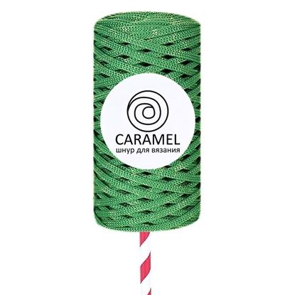 картинка полиэфирный шнур Карамель (Caramel) с люрексом, новогодняя серия цвет: diamond кедр