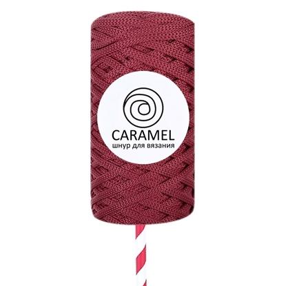 картинка шнур полиэфирный Caramel ( Карамель) 5мм цвет: ягодный в наличии недорого в интернет-магазине