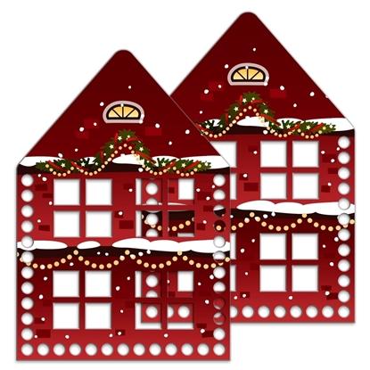 картинка основа для вязания новогодних корзин, набор домик лапландия (комплект) купить с доставкой в Москве
