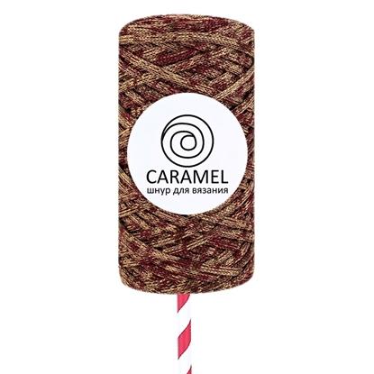картинка микс меланжевый шнур полиэфирный 5мм Карамель (Caramel) заказать