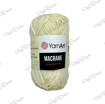 картинка полиэфирный шнур для макраме YarnArt Macrame 137 (сливочный) купить в Москве