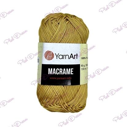картинка шнур 2мм полиэфирный для вязания крючком YarnArt Macrame (155) имбирь