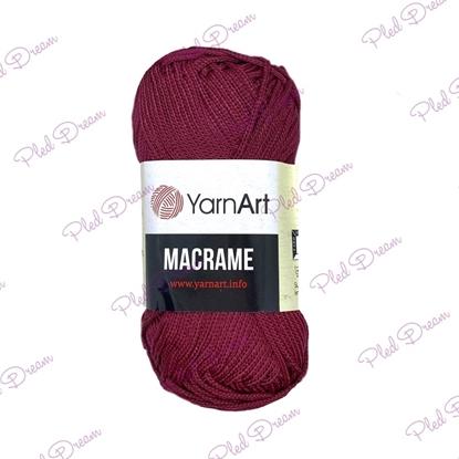 картинка полиэфирный шнур YarnArt Macrame 145 цвет:  бордовый  шнур для макраме