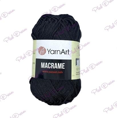 картинка шнур для макраме 2мм полиэфирный шнур YarnArt Macrame 148 блэк