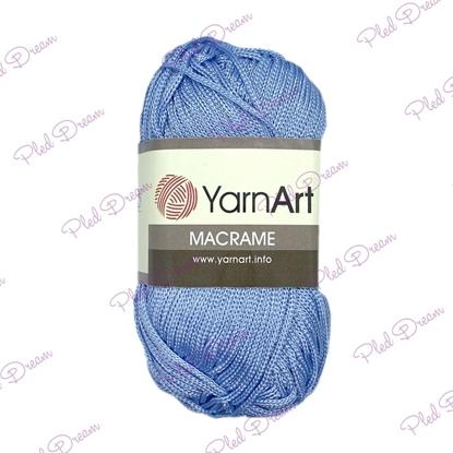 картинка полиэфирный шнур YarnArt Macrame 133 (небо) , цвет:  голубой