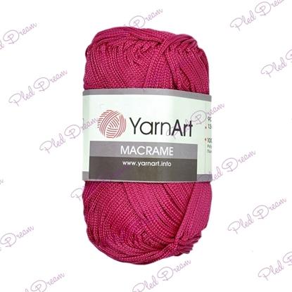 картинка шнур полиэфирный для макраме YarnArt Macrame 143 (ягодный)  цвет: малиновый