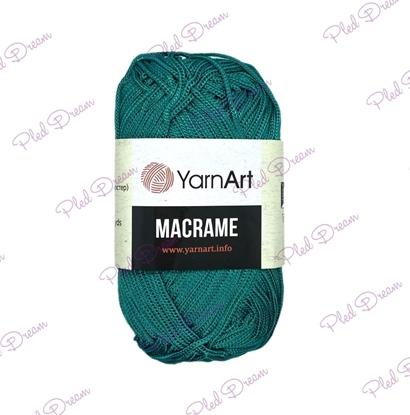 картинка шнур 2мм YarnArt Macrame 158 (морская волна) цвет изумрудный полная палитра в наличии