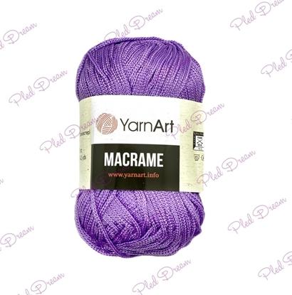 картинка YarnArt Macrame 135 (фиалка) полиэфирный шнур 2мм цвет: лаванда, сиреневый