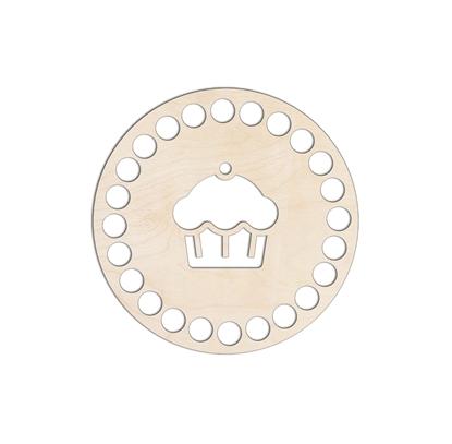 картинка донышко из фанеры круг 10см для вязания крючком