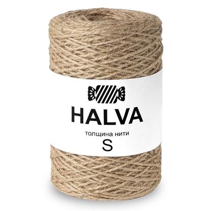 картинка джут джутовая пряжа для вязания 1.5мм , джут Halva (халва) неокрашенный