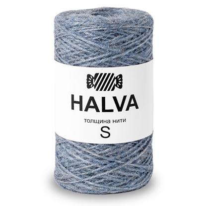 картинка джут Halva (халва) цвет: голубика, цветной джут для вязания в наличии