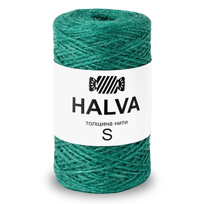 картинка цветная джутовая пряжа Halva (халва) цвет: сосна, 1.5мм купить в Москве