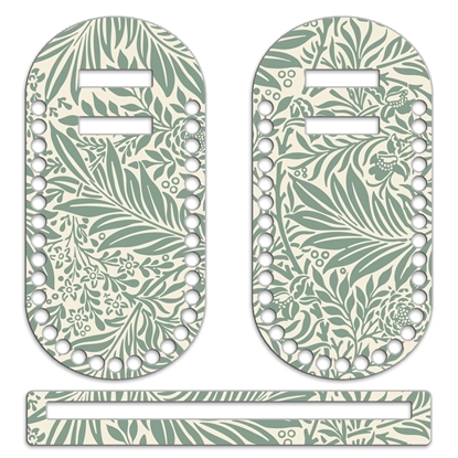 картинка основа для вязания сумки (комплект)  цвет: листья винтаж фурнитура Marmelatta