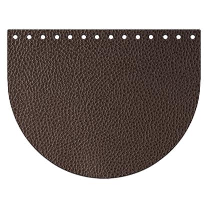 картинка крышка-клапан для вязаной сумки, крышка из экокожи, цвет: кофе, темно-коричневый , недорого