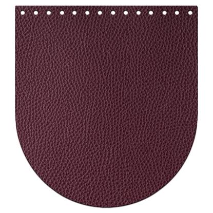 картинка крышка-клапан  из экокожи для вязаного рюкзака в наличии, цвет: вишня,бордо, марсала, вино