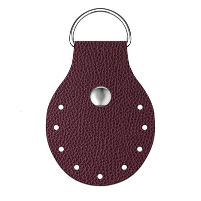 картинка пришивное полукольцо из экокожи для вязаных сумок , цвет: вишня, бордо, вино, марсала