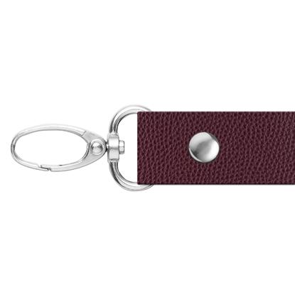 картинка ручка из экокожи 120см для сумки через плечо, цвет: вишня, бордо, вино, марсала