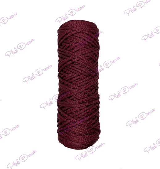 картинка полиэфирный шнур 3 мм , цвет: бордо, марсала, вишня в наличии