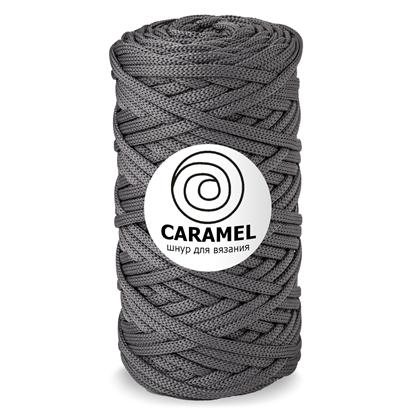 картинка шнур 5 мм полиэфирный шнур без сердечника, шнур Caramel (Карамель)  цвет: копенгаген,  серый, темно-серный