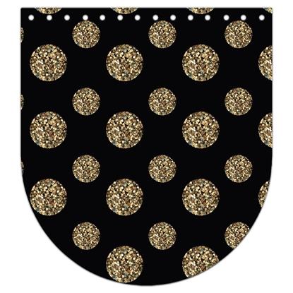 картинка крышка-клапан из итальянской экокожи с авторским принтом, цвет: Gold Party, черный с узором. размер: 20х22см купить с доставкой