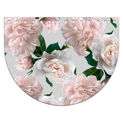 картинка Крышка-клапан овал 15х20см из экокожи с цветочным принтом Белла