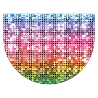 картинка  крышка-клапан овал из экокожи с принтом 15х20см для вязаных сумок из трикожатной пряжи