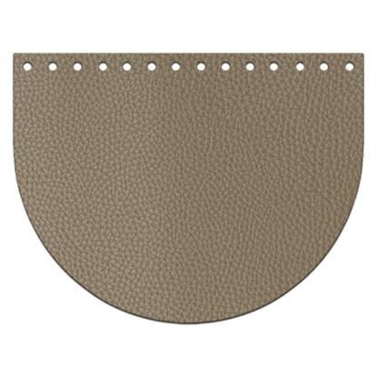 картинка крышка-клапан из экокожи 15х20см  для сумки из шнура и трикотажной пряжи, цвет: дубай