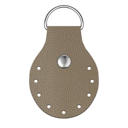 картинка пришивное полукольцо из экокожи для вязаных сумок из шнура и трикотажной пряжи, цвет: дубай купить с доставкой