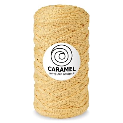 картинка шнур полиэфирный 5 мм плоский без сердечника, шнур Caramel цвет: абрикос