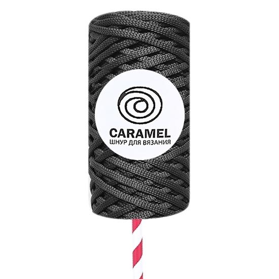 картинка  шнур Caramel, шнуры в наличии недорого полиэфирный шнур 5 мм темно-серый, цвет графит, берлин