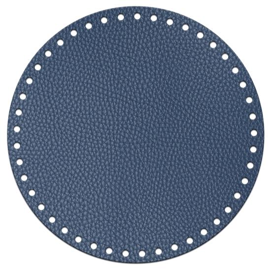 картинка круглое дно для вязаной сумки цвет: лондон, диаметр 20см из экокожи купить в Москве