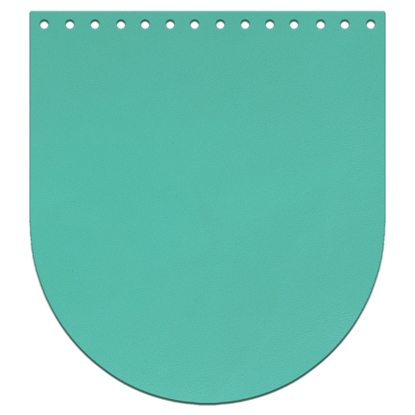 картинка крышка-клапан  из натуральной кожи , размер: 20х22см, цвет: бирюза, для вязаного рюкзака