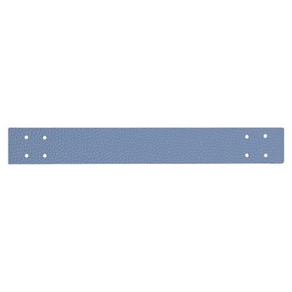 картинка ручка из экокожи 4х30см для вязаной корзины из трикотажной пряжи и шнура , цвет: джинс , серо-голубой купить с доставкой