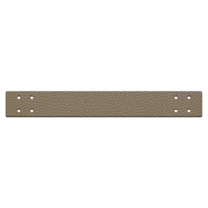 картинка ручка пришивная из экокожи  для вязаной корзинки и подноса из трикотажной пряжи, цвет: дубай , размер 4х30см