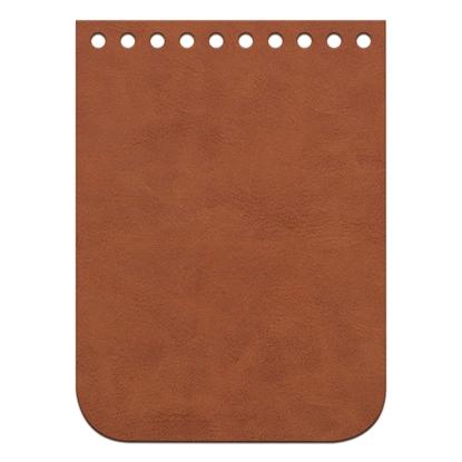 картинка крышка-клапан мини 11х15см для вязаной мини-сумочки через плечо, материал: экокожа, цвет: фундук