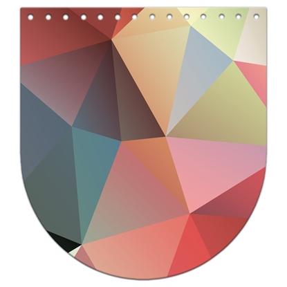 картинка крышка-клапан из экокожи с принтом для вязания рюкзака из трикотажной пряжи и шнура, размер: 20х22см, цвет: марокко