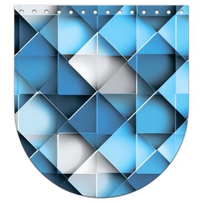 картинка крышка-клапан из экокожи с притованным рисунком, размер:20х22см, цвет: Сан-Марино, для вязанных рюкзаков и сумок из трикотажной пряжи и шнура  купить с доставкой
