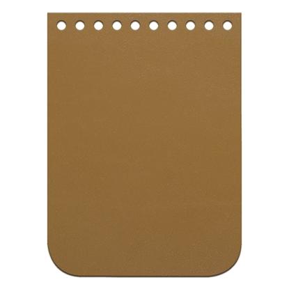 картинка крышка-клапан мини из натуральной кожи  11х15см   для вязаной мини сумочки через плечо, цвет: saffron