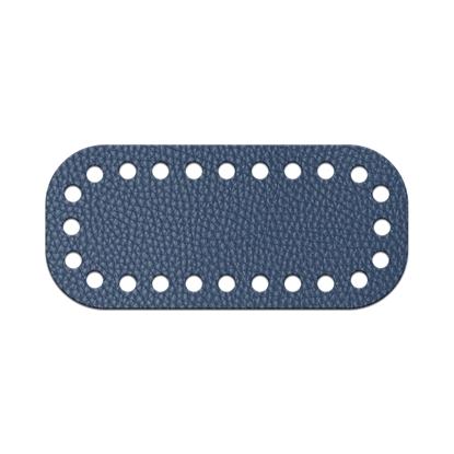 картинка дно-мини 5х11см для вязания сумки крючком из трикотажной пряжи, цвет: лондон, темно-синий в наличии