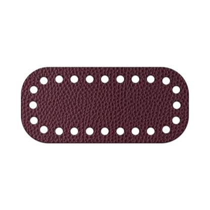 картинка дно-мини для вязания сумочки из шнура и трикотажной пряжи, цвет: вишня, бордо, марсала, размер: 5 х11 см, купить с доставкой