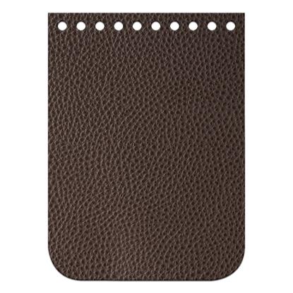 картинка мини крышка-клапан для вязаной  крючком сумочки , цвет: кофе, темно-корричневый, размер:11х15см