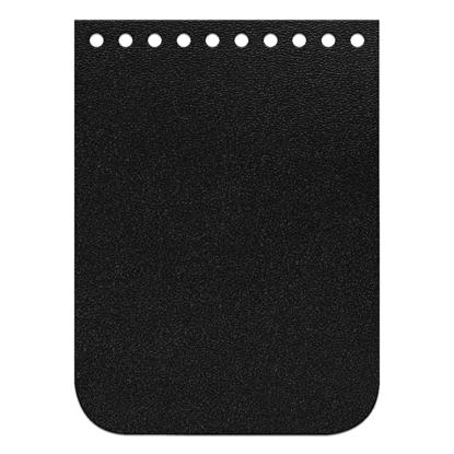картинка крышка-клапан мини из натуральной кожи для вязания мини-сумочки из трикотажной пряжи, размер:11х15см, цвет: черный, royal black
