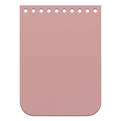 картинка крышка-клапан 11х15 см из натуральной кожи для вязания мини-сумочки через плечо из полиэфирного шнура, цвет: Misty rose, светло-розовый
