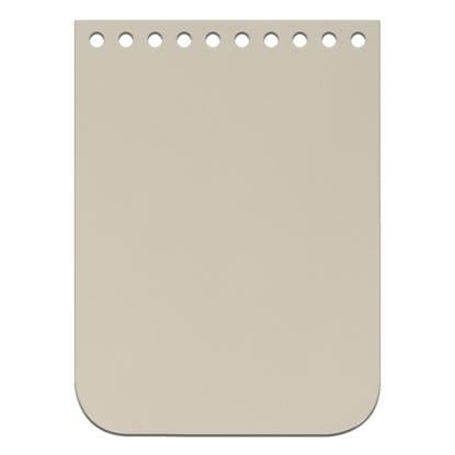 картинка кожаная фурнитура для вязания  крышка-клапан мини 11х15см для мини сумки из трикотажной пряжи и шнура, цвет: белый шоколад