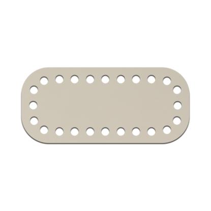 картинка донышко мини 5х11см для вязаной мини сумочки из полиэфирного шнура, цвет: белый шоколад