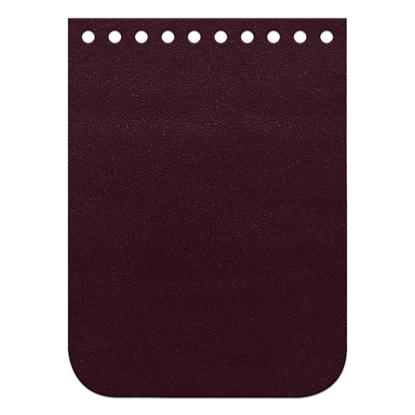 картинка кожаный клапан для мини-сумки из трикотажной пряжи 11х15см, цвет: cherry