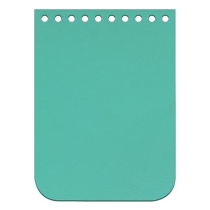 картинка мини крышка-клапан из натуральной кожи для вязаной мини сумки через плечо, цвет: бирюза, размер:11х15см