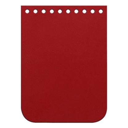 картинка крышка-клапан из натуральной кожи для мини-сумочки из полиэфирного шнура, размер:11х15см, цвет: красный, red hot