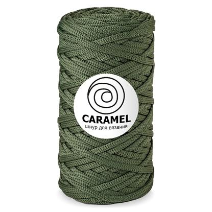 картинка шнур полиэфирный 5 мм Карамель (Caramel) цвет: оливковый
