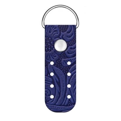 картинка пришивные полукольца из натуральной кожи с тиснением для вязания сумок из трикотажной пряжи, цвет: смородина